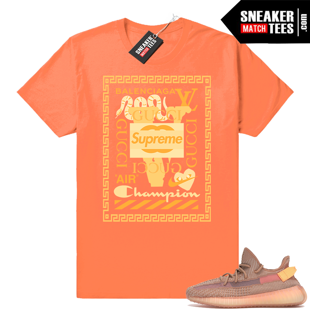 Clay 350 V2 Yeezy Boost Sneaker shirt outfit