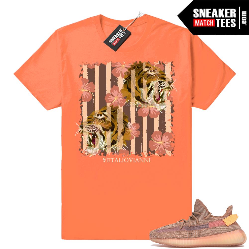 Clay 350 Yeezys matching shirts