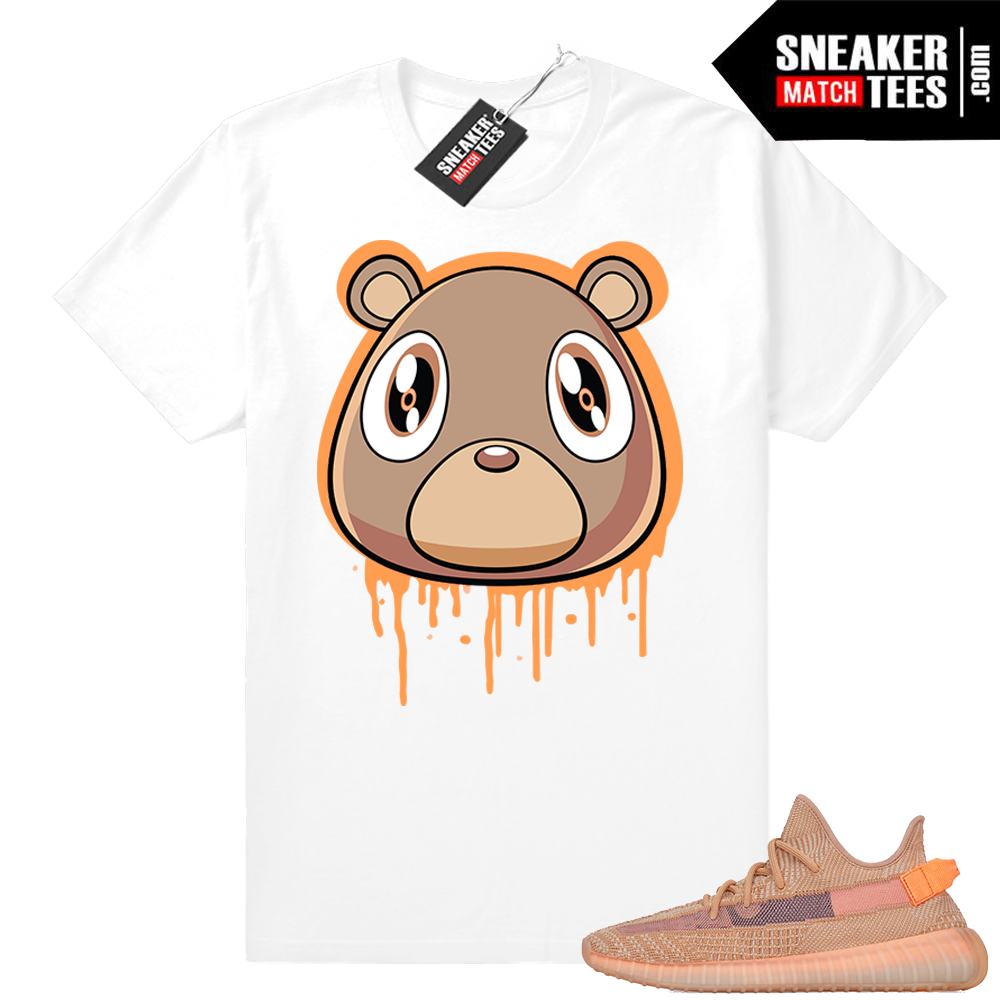 Clay Yeezy sneakers match shirt
