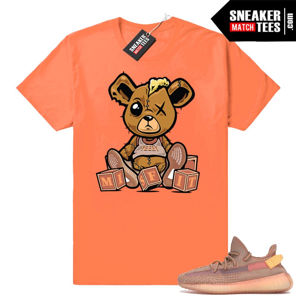 Match Yeezy 350 Clay t-shirts