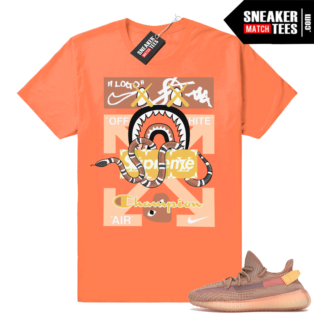 Sneaker shirts Clay Yeezy 350 V2