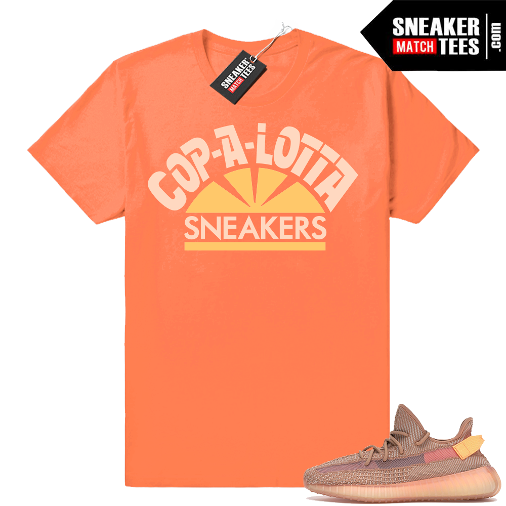 Sneaker shirts Yeezy boost 350 V2 Clay