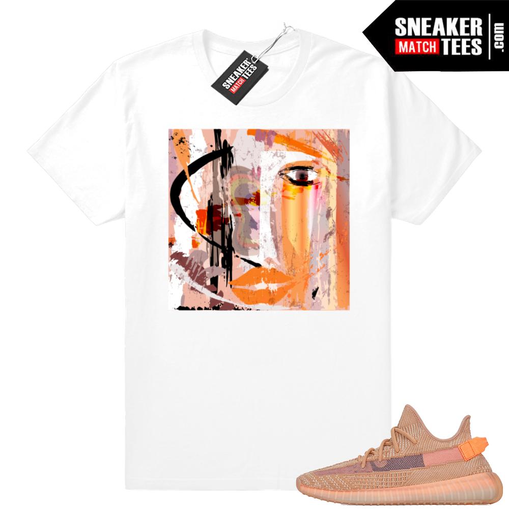 Sneaker shirts match Clay Yeezys