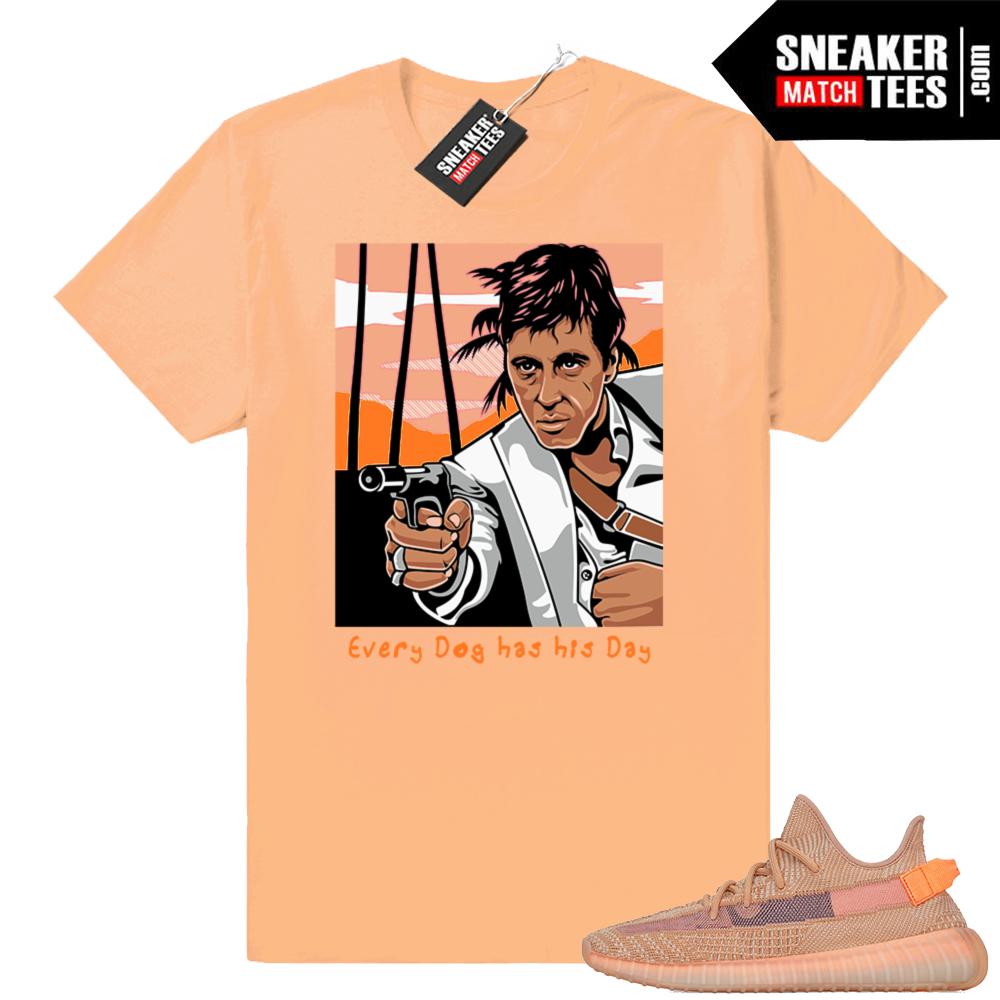 Sneaker shirts match Yeezy Clay