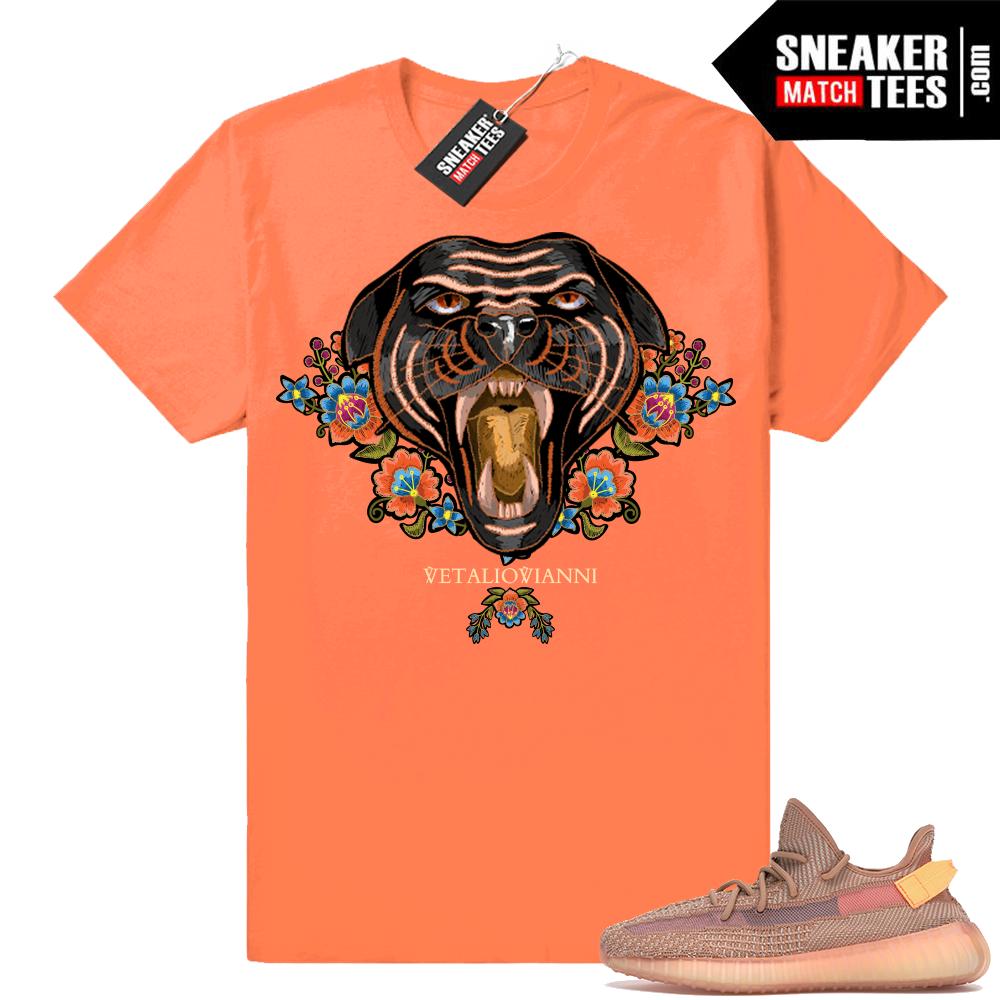 Sneaker shirts matching Yeezy 350 Clay