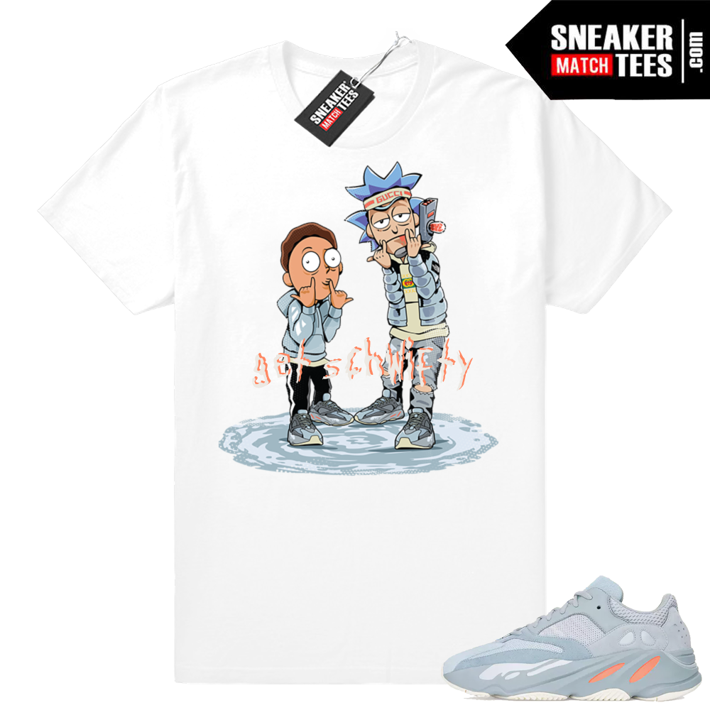 Sneaker tee shirt Yeezy boost 700 Inertia
