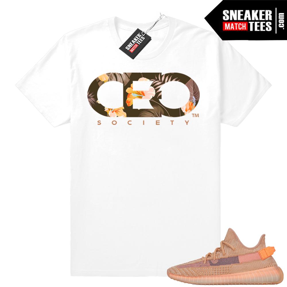 Sneaker tees Yeezy Clay 350 match