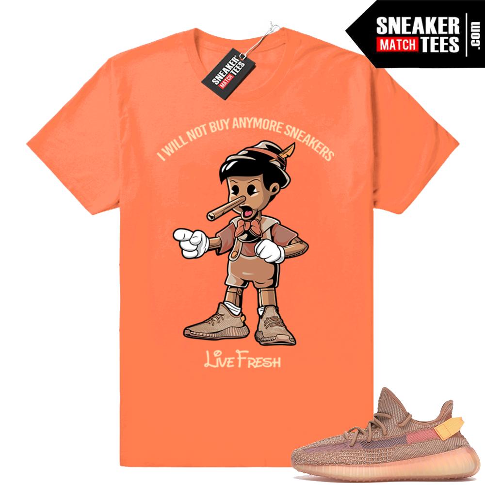 Sneaker tees match Clay Yeezy 350