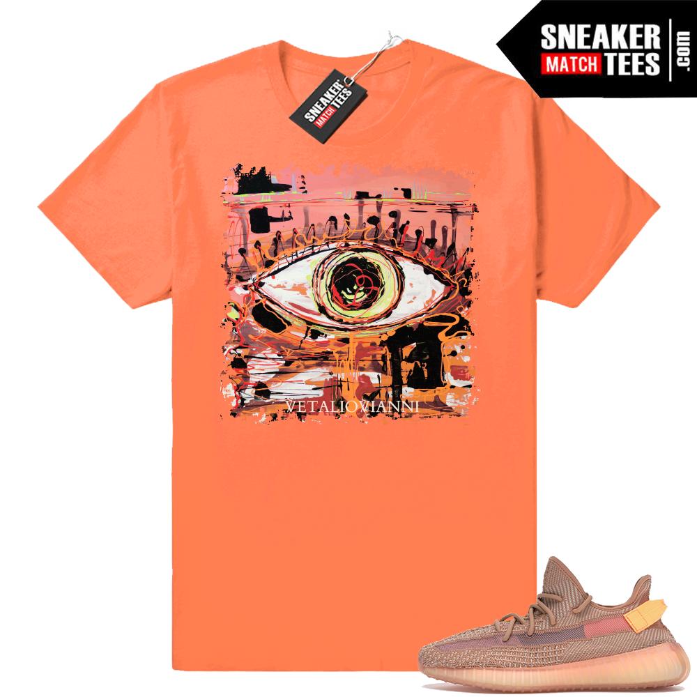 Yeezy 350 Clay Abstract Eye t shirt