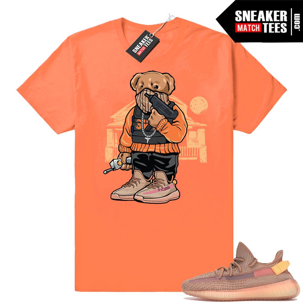 Yeezy 350 Clay Trap Bear t-shirt