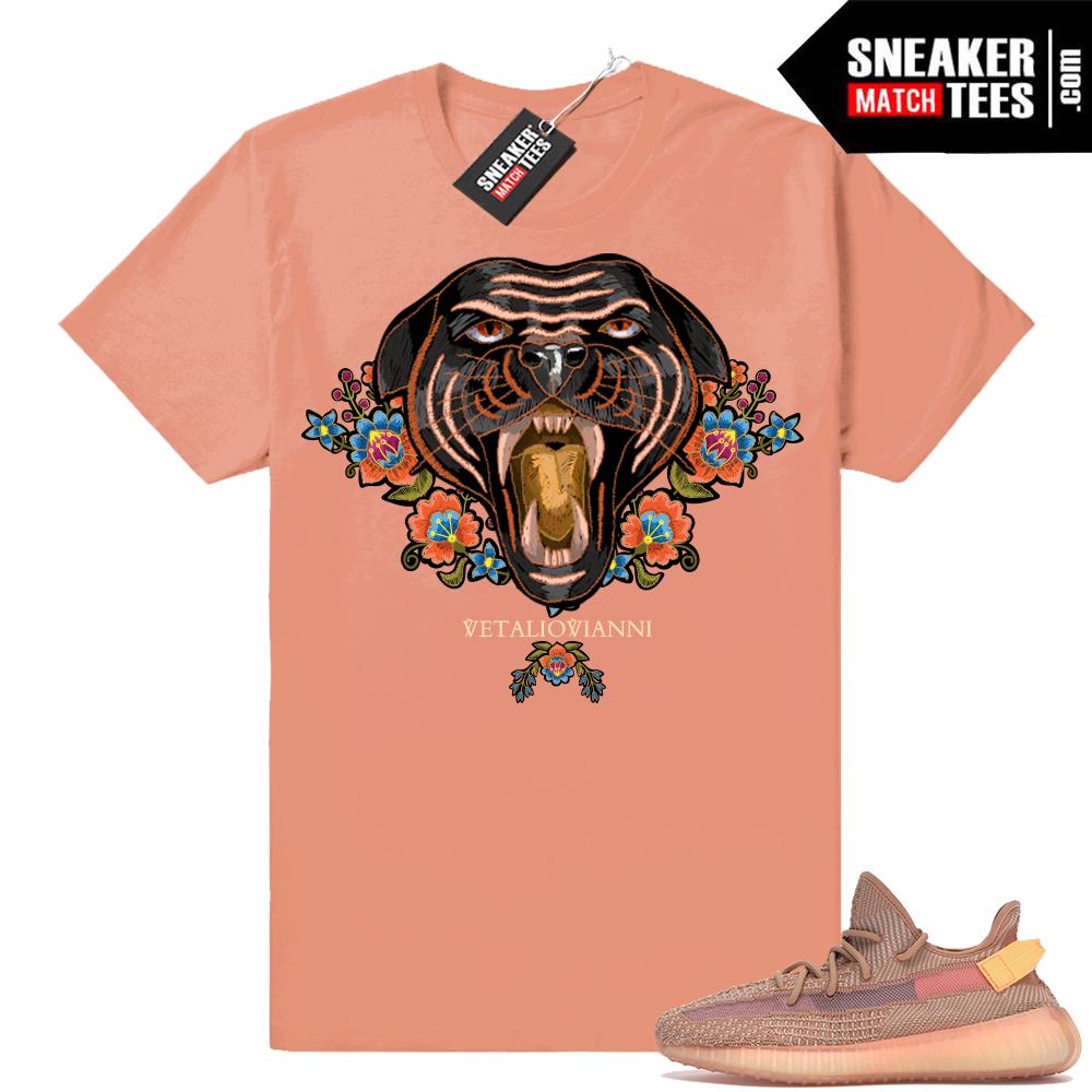 Yeezy 350 Clay matching t-shirt