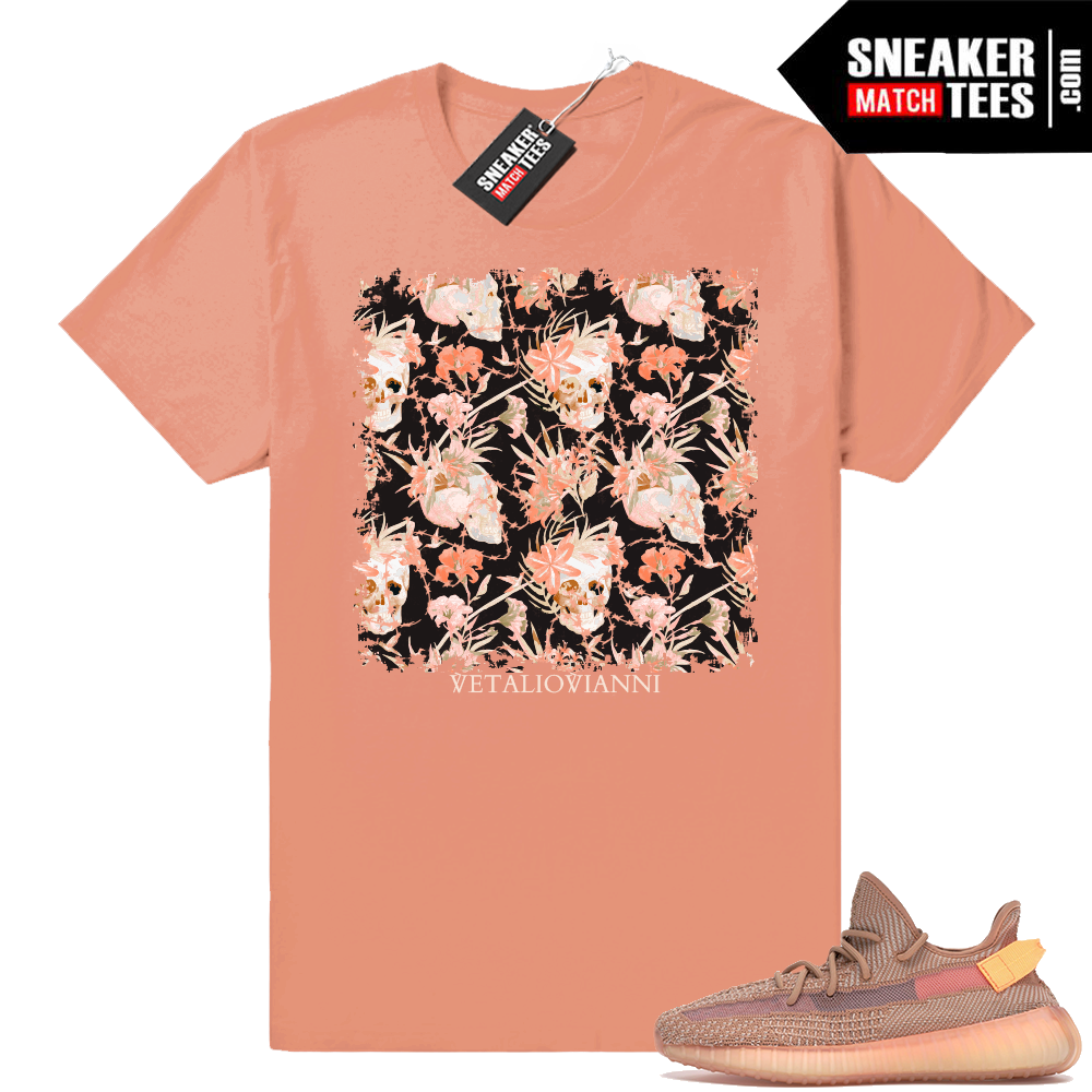 Yeezy 350 Clay sneaker match tee