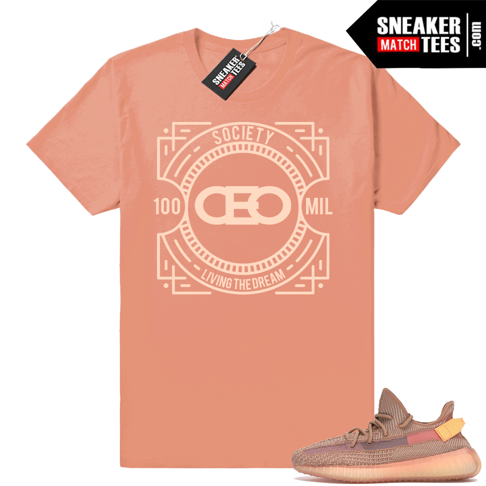 Yeezy 350 V2 Clay sneaker tees match outfit