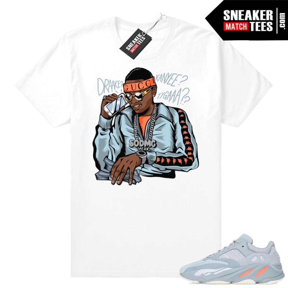 Yeezy 700 Inertia Matching Soulja Boy tee shirt