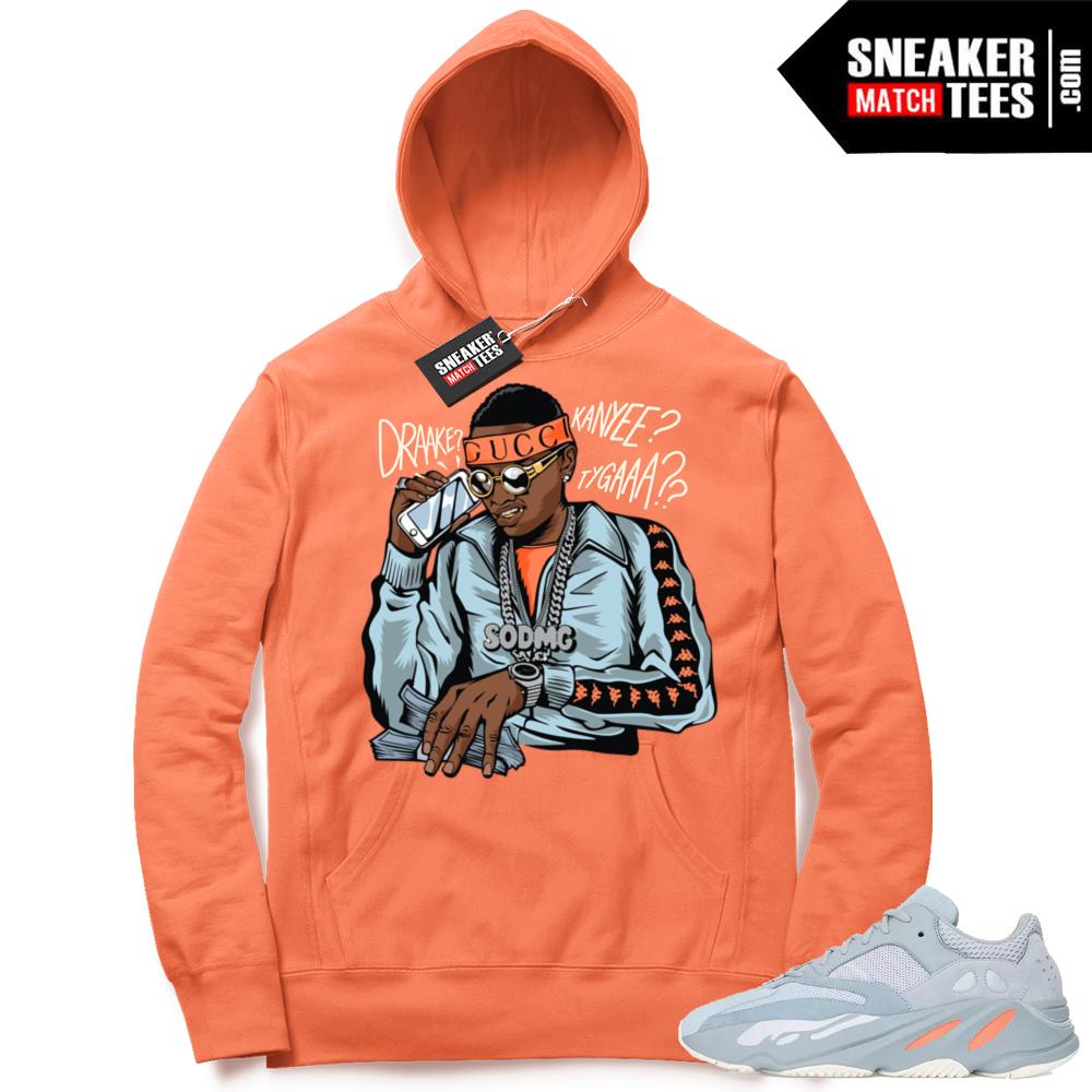 Yeezy 700 Inertia Soulja Boy Orange Hoodie
