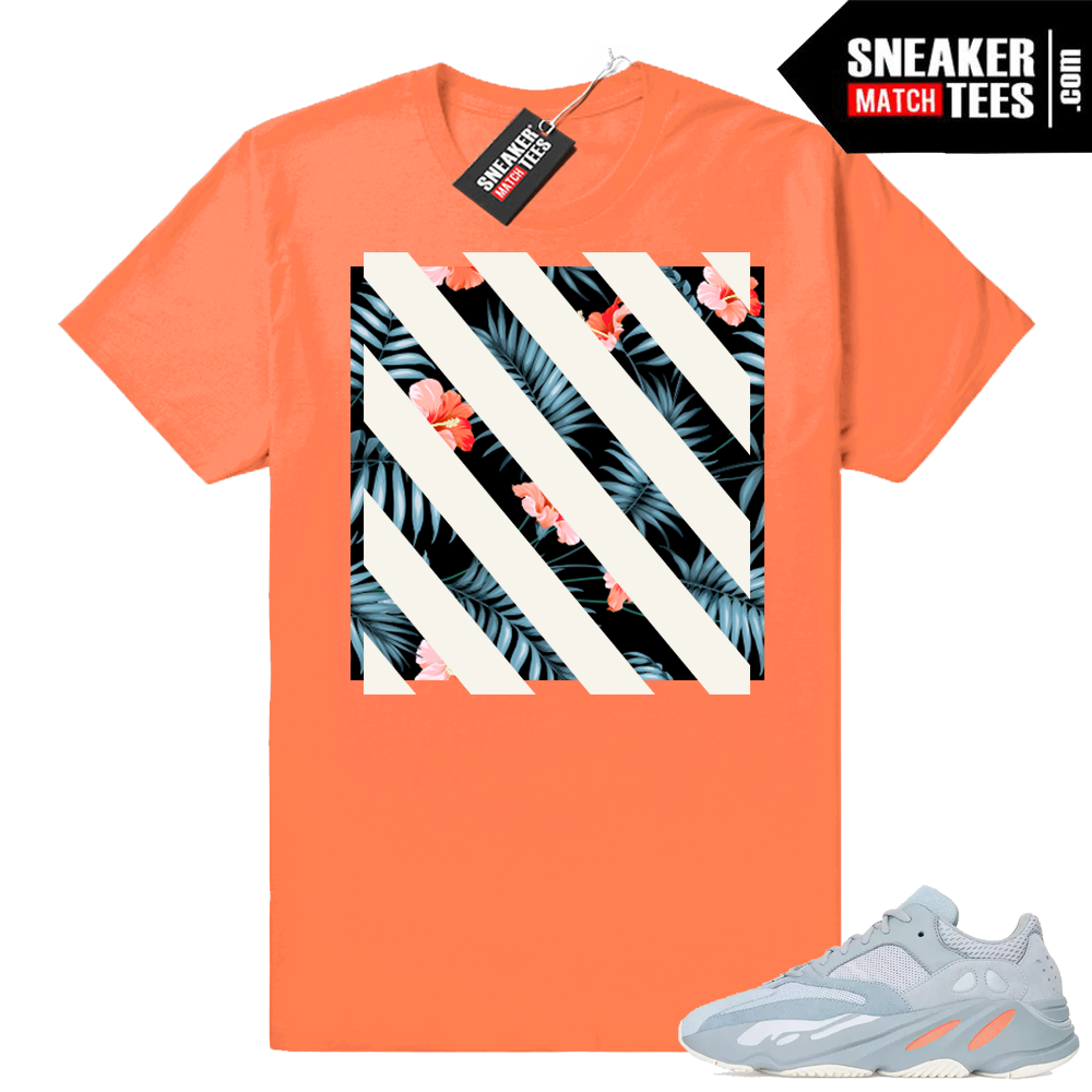 Yeezy 700 inertia shirts match shoes