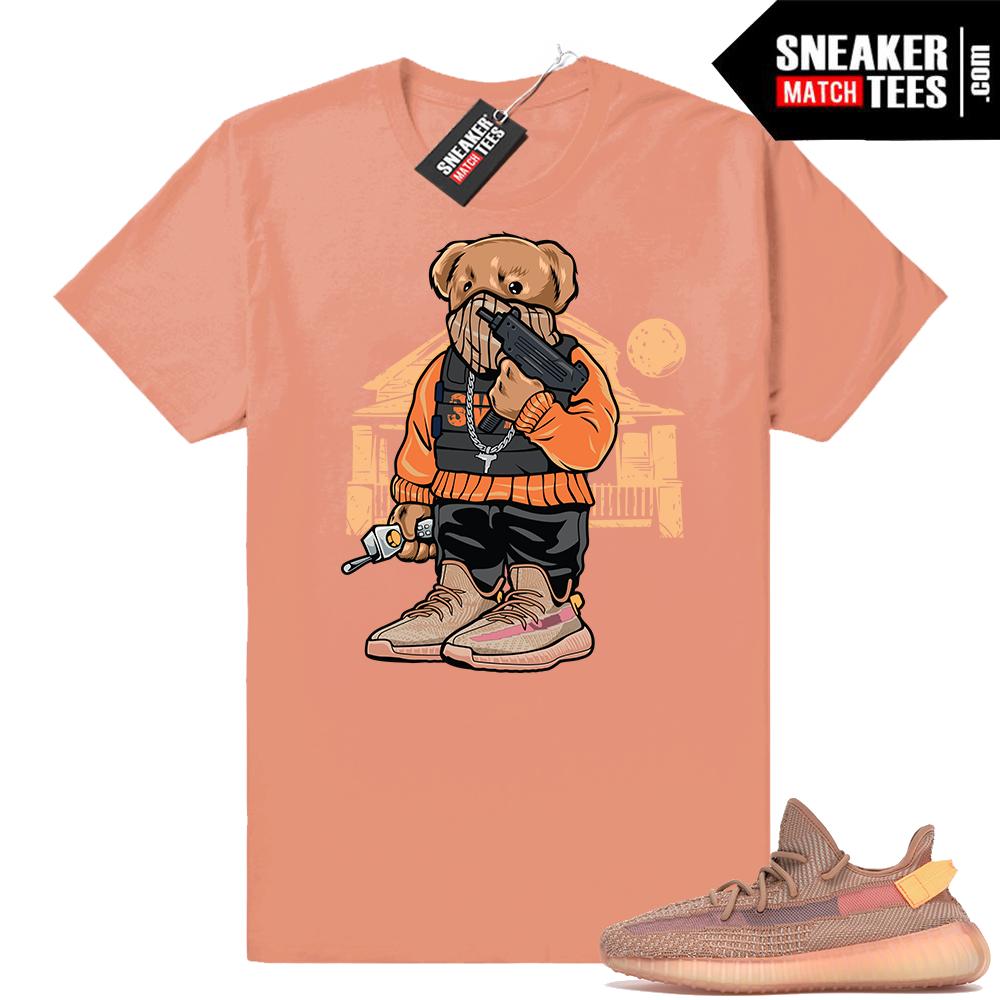 Yeezy Boost 350 Clay Trap Bear t-shirt