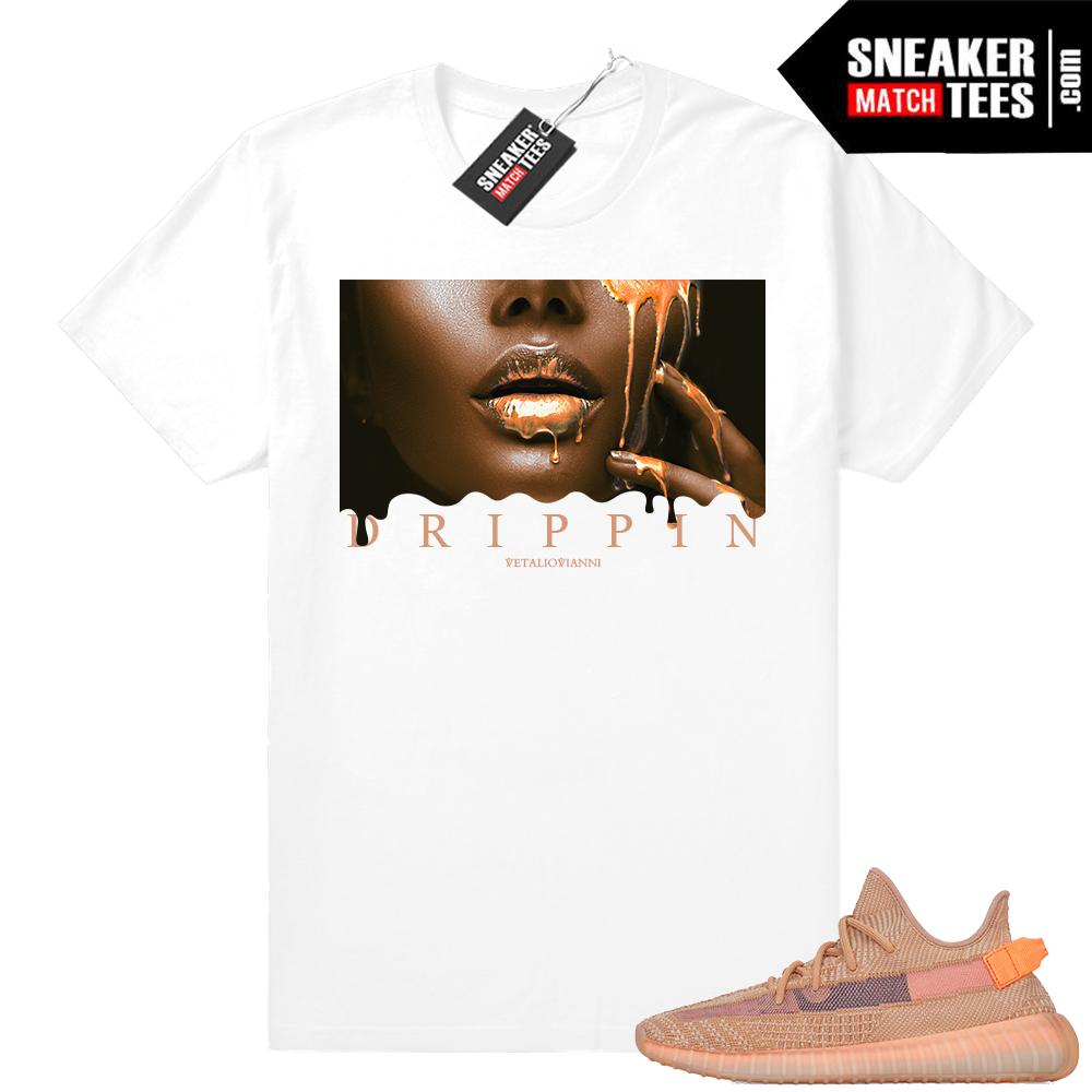 Yeezy Boost 350 V2 Clay sneaker tee shirt match