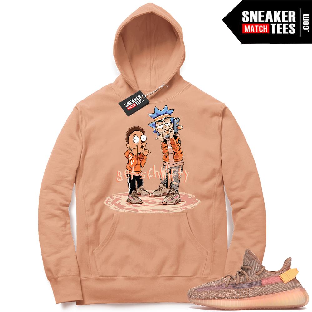 Yeezy Clay 350 Sneaker Match Hoodie