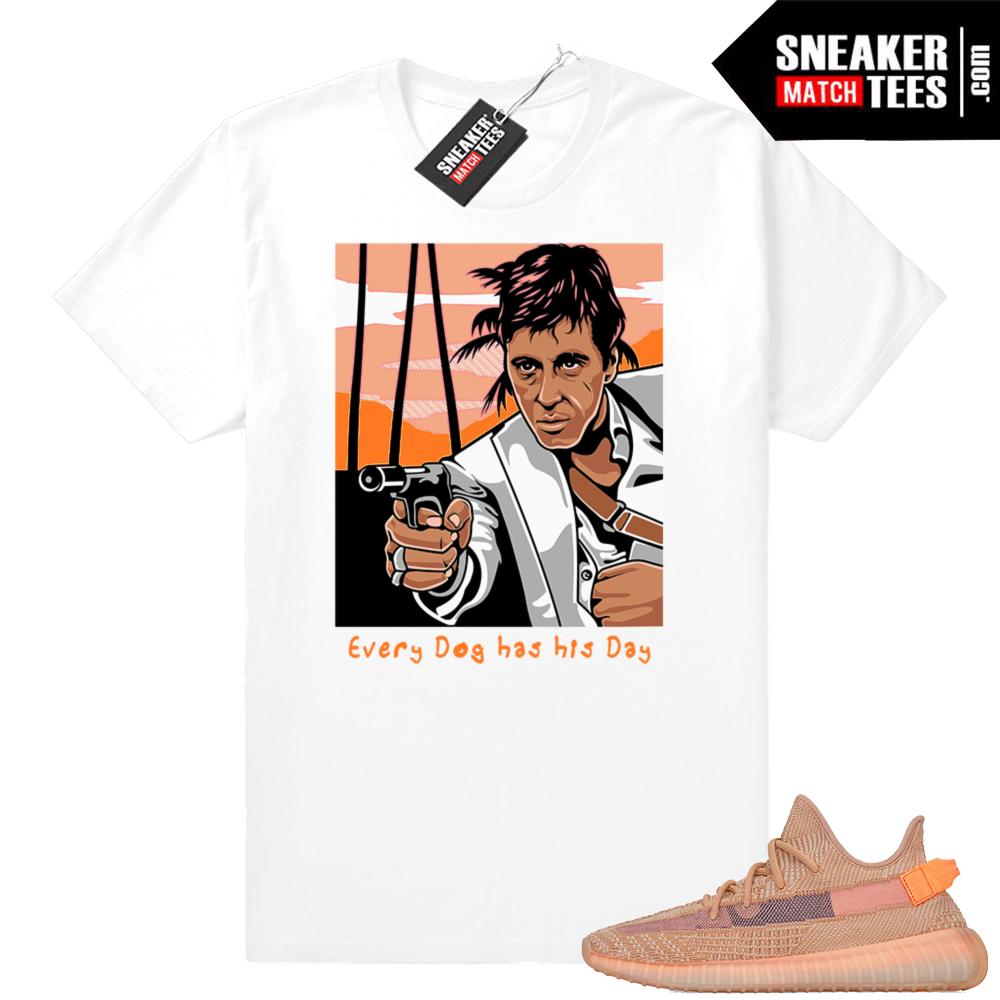 Yeezy Clay 350 sneaker match t-shirt