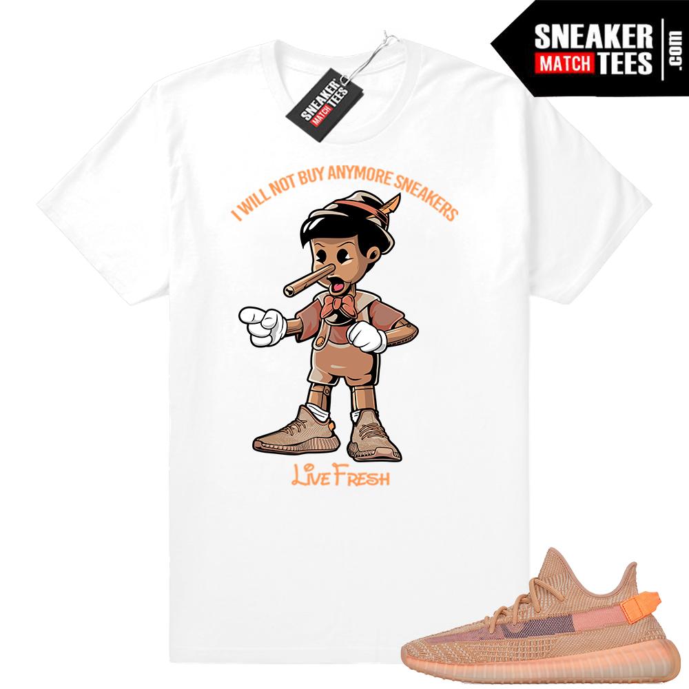 Yeezy Clay Sneakerhead pinocchio shirt