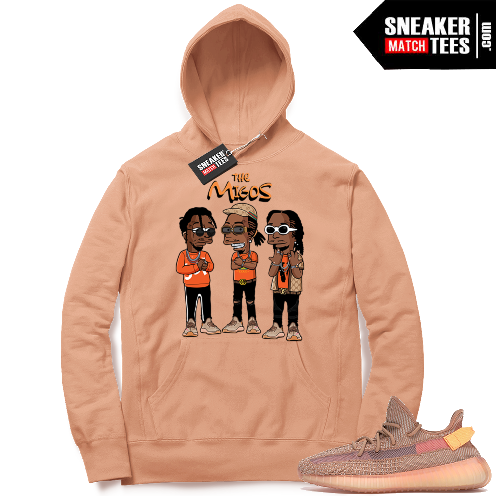 Yeezy Clay sneaker hoodie Migos