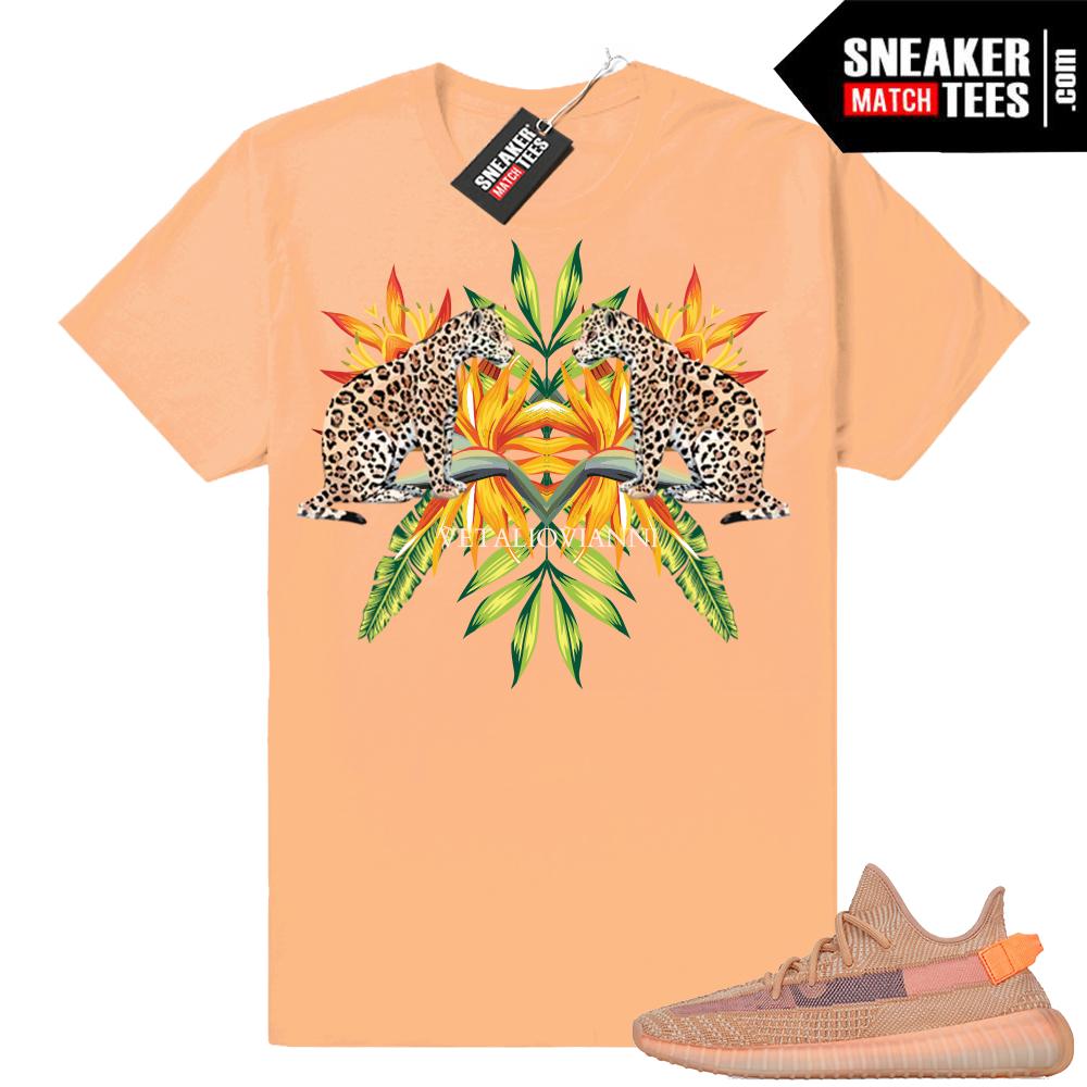 Yeezy Designer shirt match Clay 350s