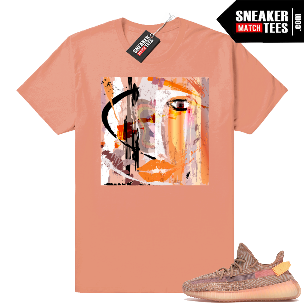 Yeezy boost 350 V2 Clay Abstract Art shirt