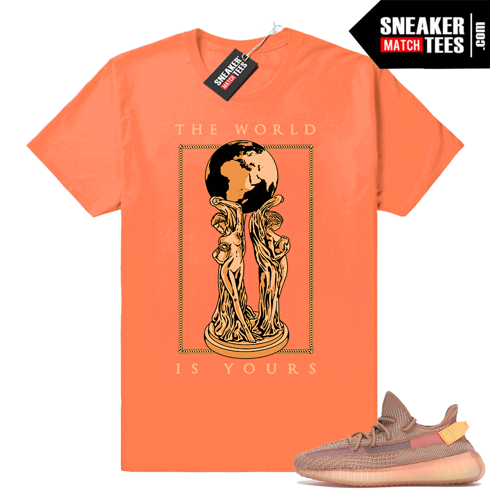 Yeezy boost 350 V2 Clay match sneaker tee
