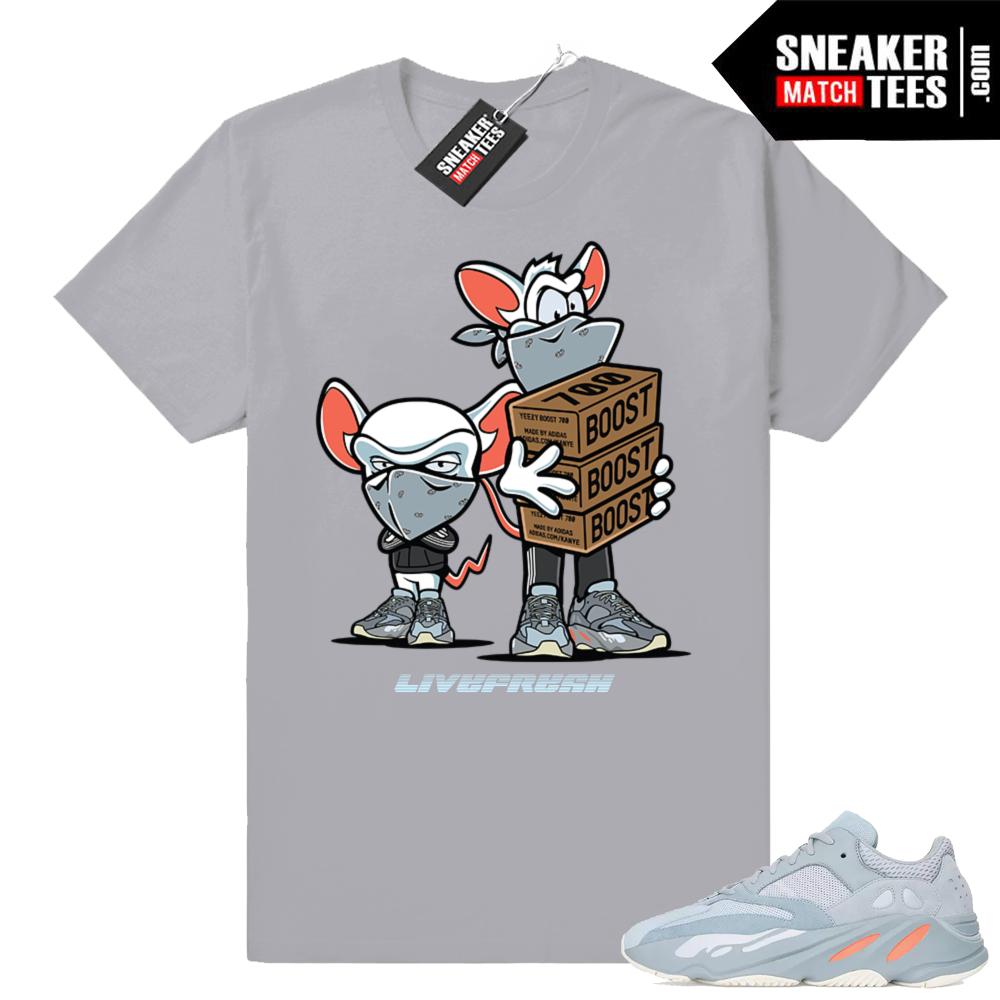 Yeezy boost 700 Inertia Sneaker Match T-shirt