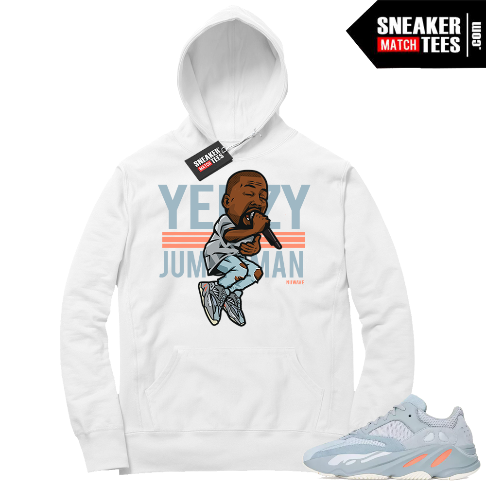 Yeezy boost 700 Inertia Yeezy over Jumpman White Hoodie