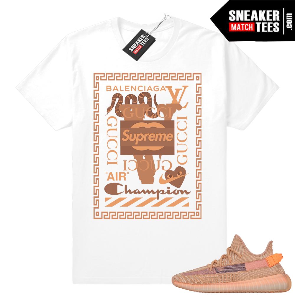 Yeezy sneaker match tees
