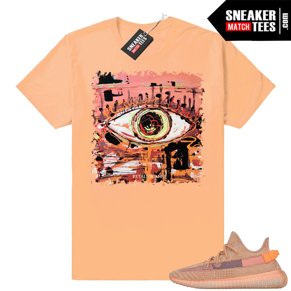 Yeezys matching Clay 350 shirts