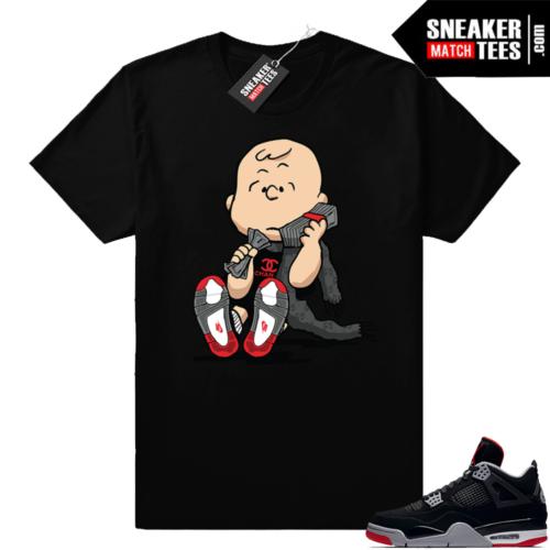 Air Jordan 4 Bred Sneaker tees