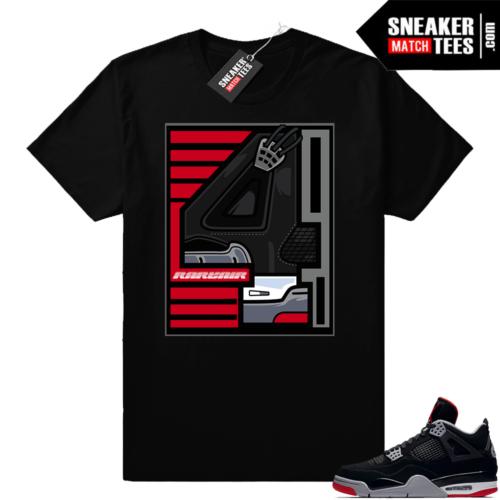 Air Jordan 4 Bred maching outfit