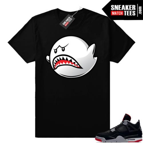 Air Jordan 4 Bred sneaker shirt match