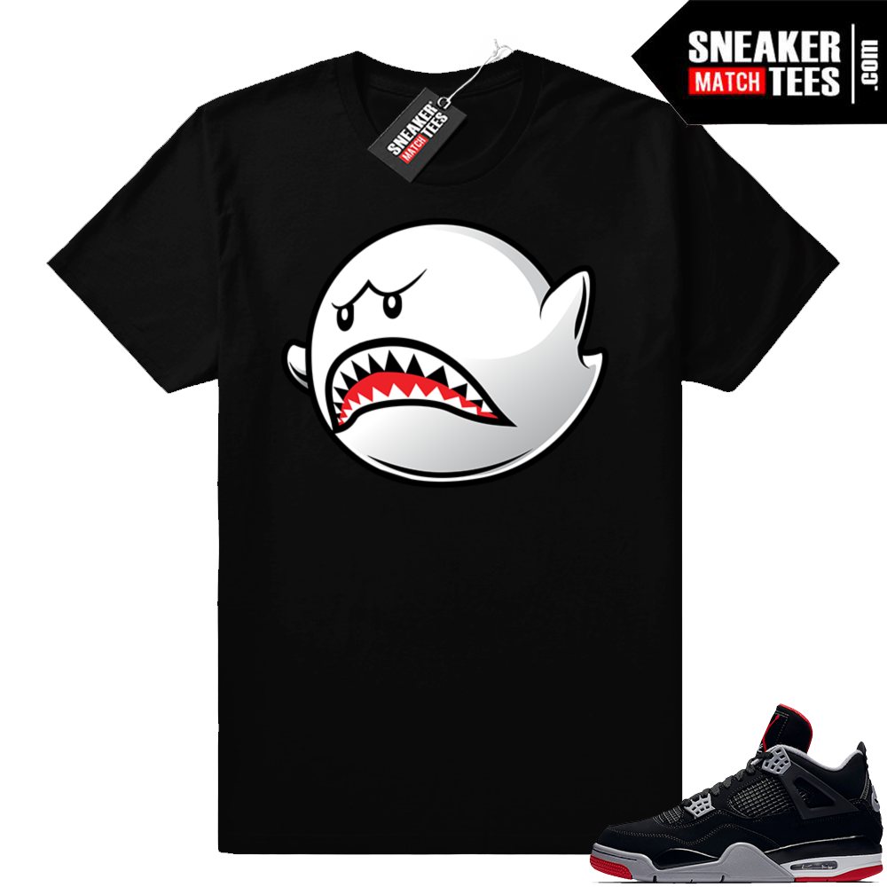 Air Jordan 4 Bred sneaker shirt match