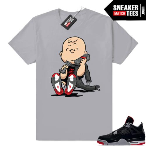 Air Jordan 4 Bred tee shirts