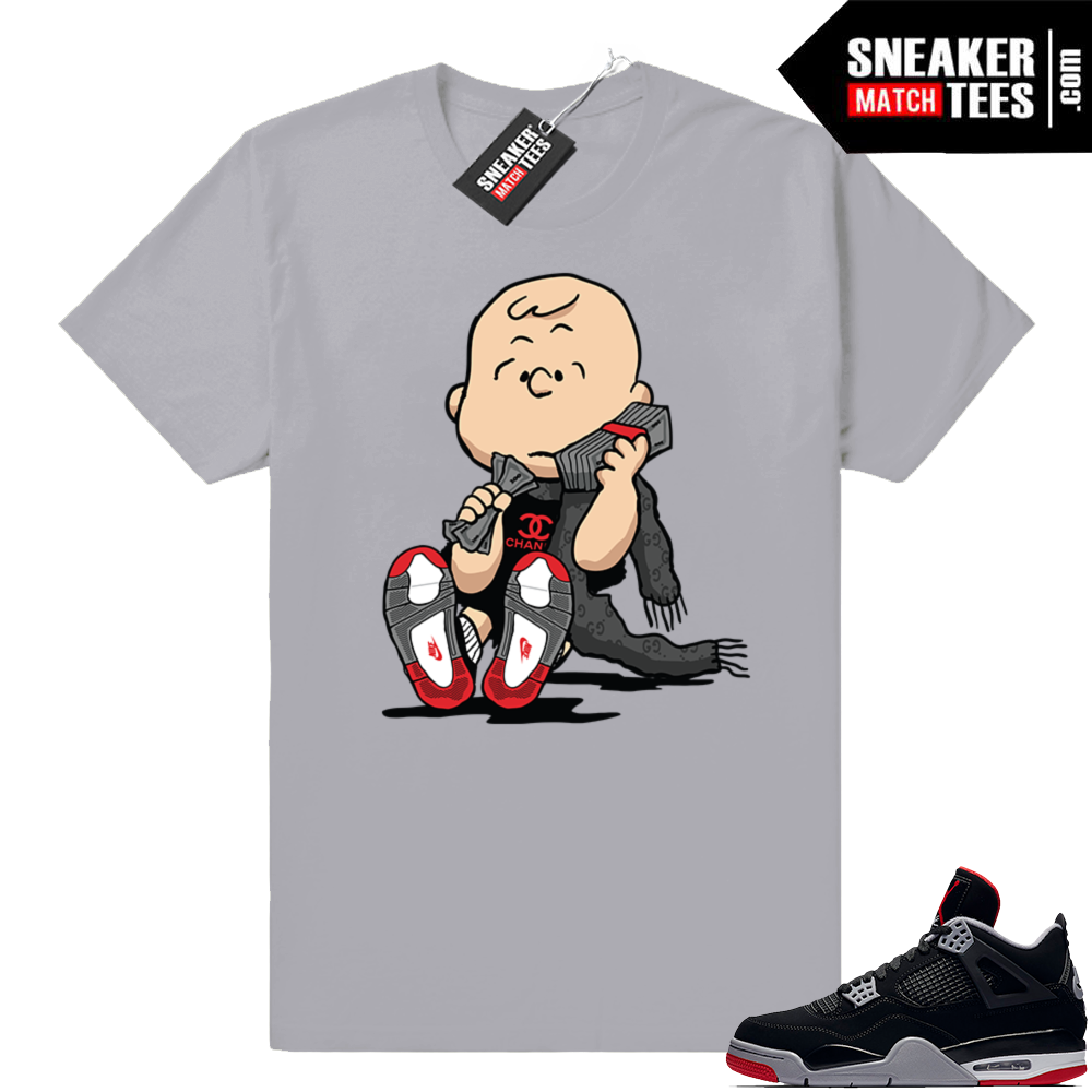 Air Jordan 4 Bred tee shirts