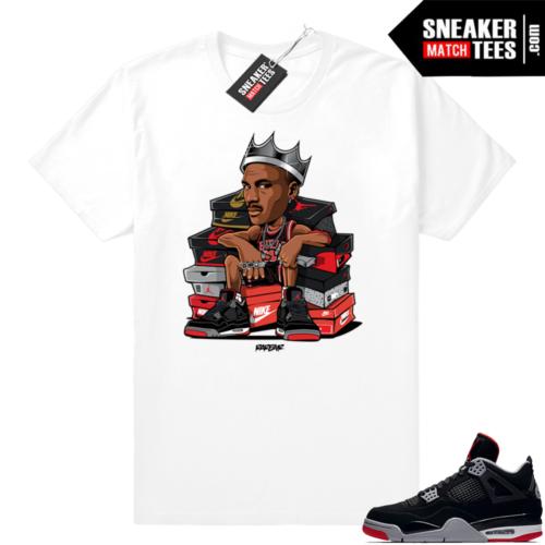 Air Jordan 4 bred match tees