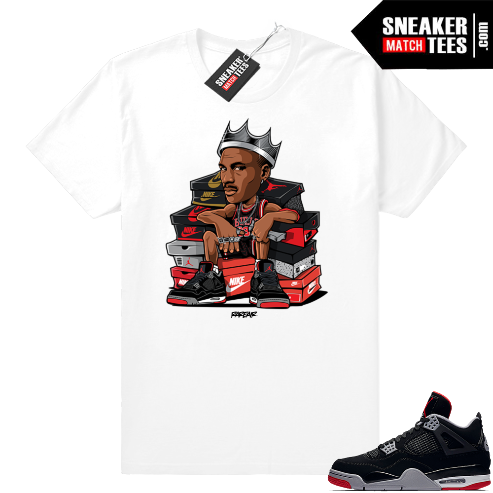 Air Jordan 4 bred match tees