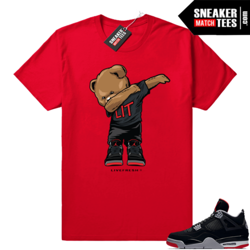 Air Jordan 4 sneaker tees Bred