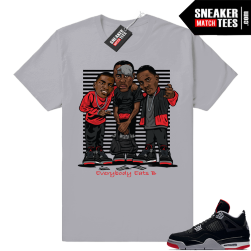 Air Jordan Retro 4 Bred Sneaker shirts