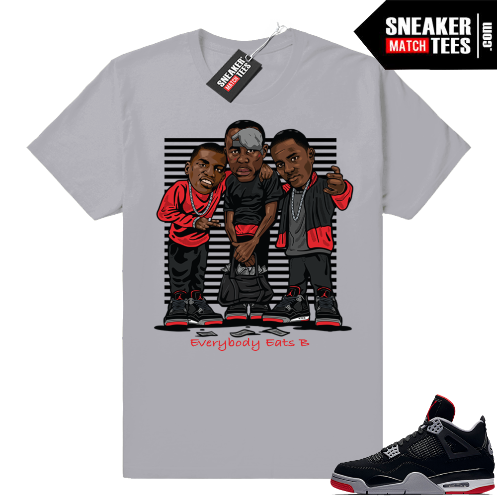 Air Jordan Retro 4 Bred Sneaker shirts