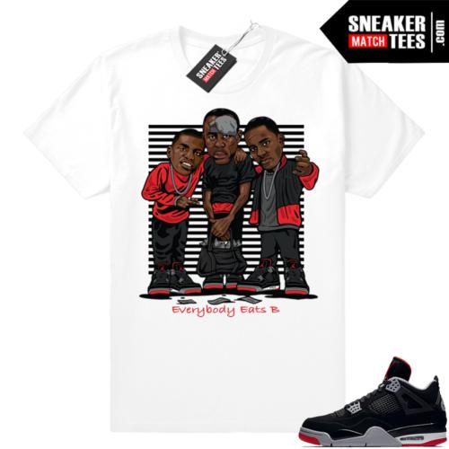 Air Jordan Retro 4 Bred Sneaker tees