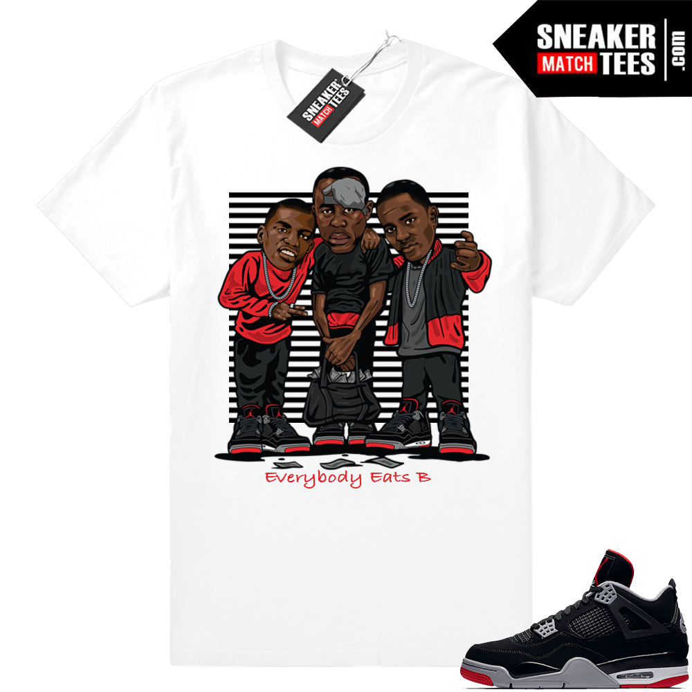 Air Jordan Retro 4 Bred Sneaker tees