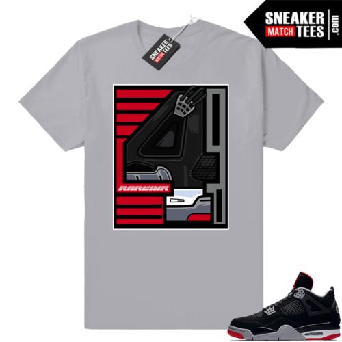 Air Jordan tees Bred 4