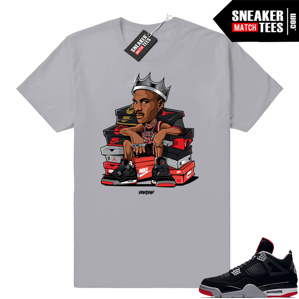 Air Jordan tees match Bred 4