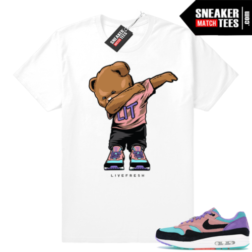 Air Max 1 Have a Nike Day Dabbin Bear White tee