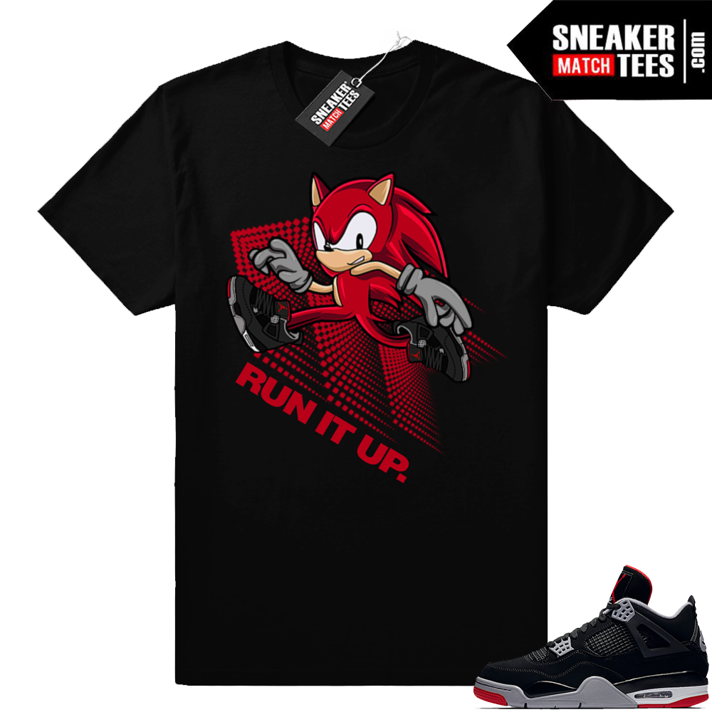 Bred 4s Run it up tee